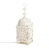 WHITE MEDALLION TABLE LAMP