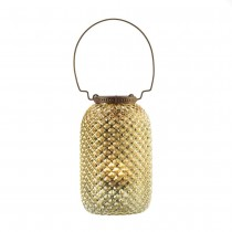 GOLDEN DIAMOND CANDLE LANTERN