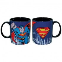 SUPERMAN DC COMICS STONEWARE 14 OZ. BLUE