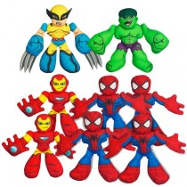 MARVEL SUPER HERO MINI-PLUSH SET OF 8