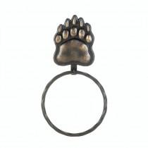 IRON BEAR PAW TOWEL RING