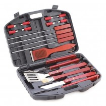 19 PC. DELUXE BBQ TOOL SET IN CASE
