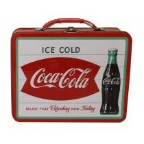 WHITE COCA-COLA TIN LUNCH BOX