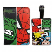 MARVEL FACE OFF PASSPORT AND LUGGAGE TAG