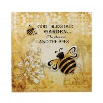 BUMBLE BEE 3-D GARDEN WALL ART