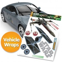 STAR WARS TIE FIGHTER AND X-WING FANWRAP
