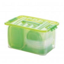54 PIECE FOOD STORAGE SET - GREEN