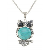 TURQUOISE OWL JEWELRY SET