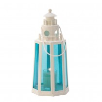 OCEAN BLUE LIGHTHOUSE CANDLE LAMP