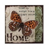 HOME BUTTERFLY 3-D WALL ART